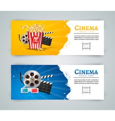 Cinema movie banner poster design template film vector
