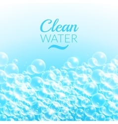 Clean Purified Water Background vector image vector image