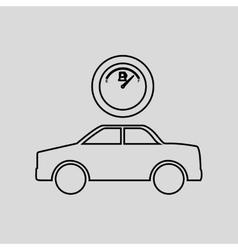 Electric car design vector