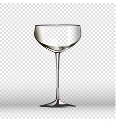 Empty wine glass isolated on transparent vector