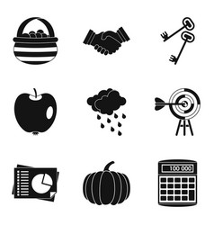Estimated company icons set simple style vector