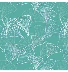 Ginkgo biloba pattern seamless vector image vector image