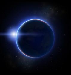 Moon eclipse vector