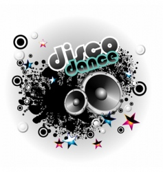 music disco background vector image