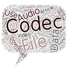 Music video codecs text background wordcloud vector
