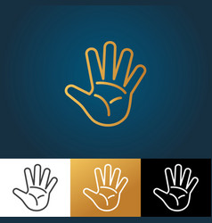 open hand icon vector image