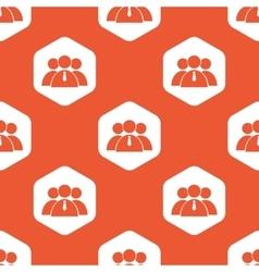Orange hexagon user group pattern vector image