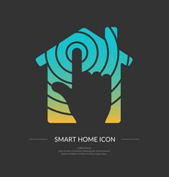 Smart home icon vector