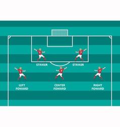 Soccer attacker flat graphic vector