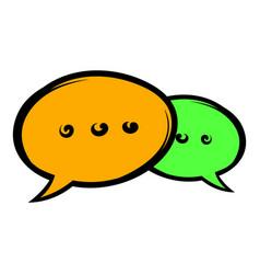 speach bubles icon icon cartoon vector image