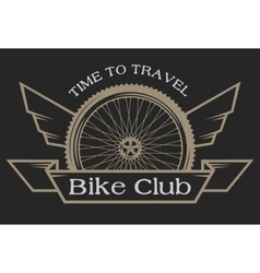 The emblem on the topic of bicycles vector image