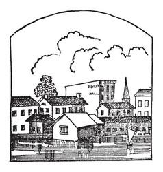Town vintage vector