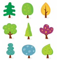 tree designs vector image vector image