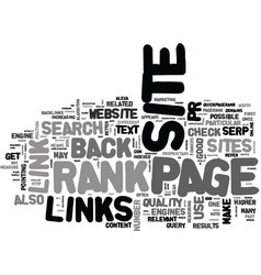 What is page rank what are back links and why do vector