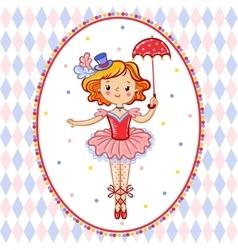 Wonderful of circus artist vector image