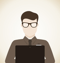 Man with laptop vector