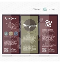 Brochure mock up design template for business vector image