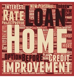 Your home improvement loan text background vector