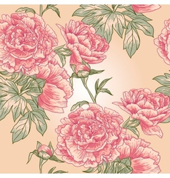 Elegance seamless peony pattern vector