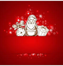 Background with santa claus vector