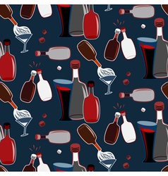 Seamless alco party time pattern vector
