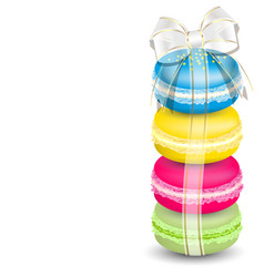 Macaroons and ribbon vector