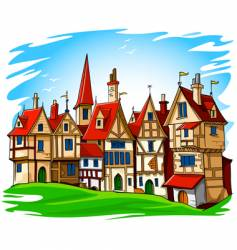 European architecture vector