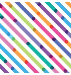 Bright color strips on a diagonal seamless pattern vector