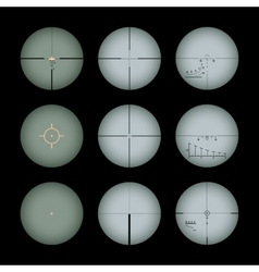Real gun sights vector
