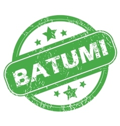 Batumi green stamp vector