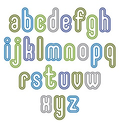 Double light green lowercase letters isolated on vector
