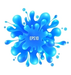 Blue paint splash isolated on white vector