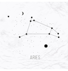 Astrology sign aries on white paper background vector