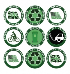 Recycling collection vector