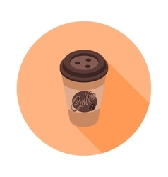 Flat isometric icon with a coffee cup vector