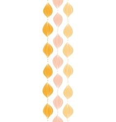 abstract golden ogee vertical border seamless vector image vector image