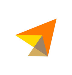 Abstract triangle geometry company logo vector