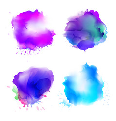 Abstract watercolor stains background vector