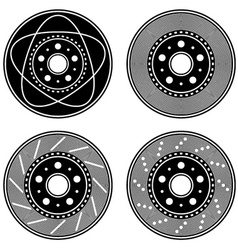 brake disc black symbols vector image vector image