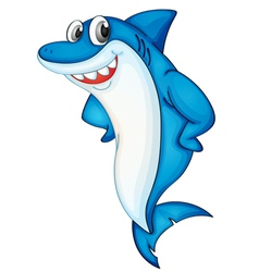 Comical shark vector image vector image