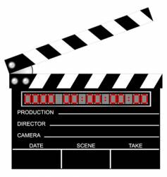 digital clapboard vector image