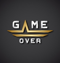 Eps10 game over text icon vector