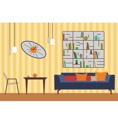 Furniture set flat for you vector