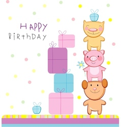 Happy birthday vector image vector image