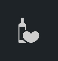 heart with wine icon simple vector image vector image