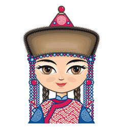 Historical clothes buryatia vector
