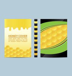 Honey brochure flyer design layout template vector