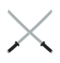 Japanese swords icon cartoon vector image vector image
