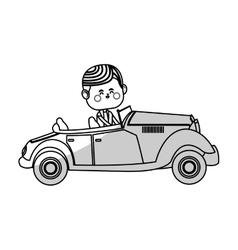 Kawaii boy icon vector