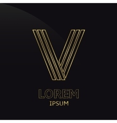 Letter V vector image